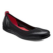 Womens Ecco Bluma Summer Ballerina Casual Shoe - Black/Black 4.5