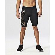 Mens 2XU Elite MCS Compression Unlined Shorts - Black/Gold L