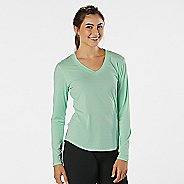 Womens R-Gear Finish First Long Sleeve No Zip Technical Tops - Sea Glass S