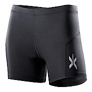 Womens 2XU Compression 1/2 Unlined Shorts - Black/Black L