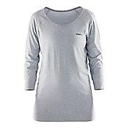 Womens Craft Cool Seamless Touch Sweatshirt Long Sleeve Technical Tops - Grey XS/S