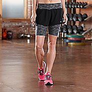 Womens Road Runner Sports Mixed Message 2-in-1 Printed 7
