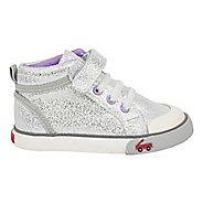 Kids See Kai Run Peyton Casual Shoe - Silver Glitter 7Y