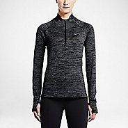 Womens Nike Element Sphere Long Sleeve 1/2 Zip & Hoodies Technical Tops - Black/Heather XL