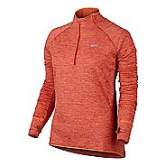Womens Nike Element Sphere Long Sleeve 1/2 Zip & Hoodies Technical Tops - Turf Orange XL