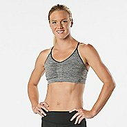 Womens R-Gear Undercover Seamless Cami Sports Bra - Charcoal/Dove Grey L