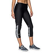 Womens Under Armour HeatGear Capri Tights - Black/White XS