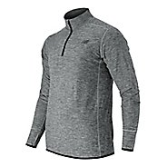 Mens New Balance N Transit Quarter Zip Long Sleeve Technical Tops - Athletic Grey XL
