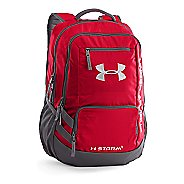 Under Armour Hustle Backpack II Bags - Red/Silver