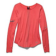 Womens Under Armour Charged Wool Long Sleeve No Zip Technical Tops - Coho XL