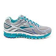 Womens Brooks Adrenaline GTS 16 Running Shoe - Silver/Blue 5