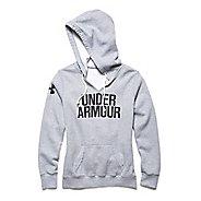 Womens Under Armour Favorite Fleece Wordmark Hoodie & Sweatshirts Technical Tops - True Grey ...