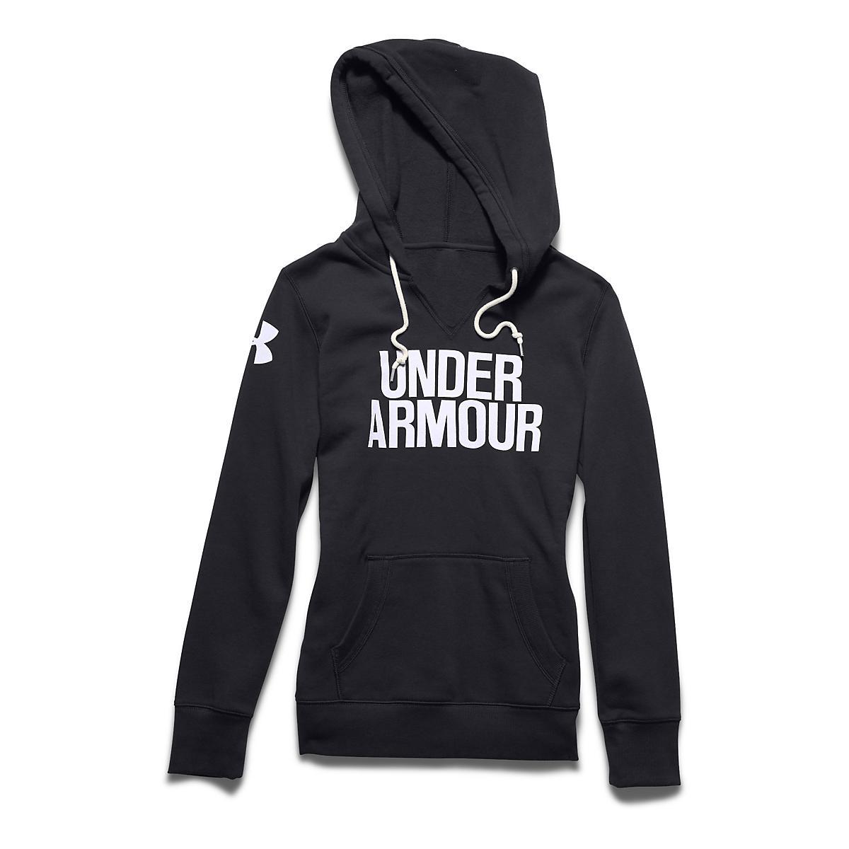 Womens Under Armour Favorite Fleece Wordmark Hoodie   Sweatshirts Technical  Tops at Road Runner Sports 5ee867c68c