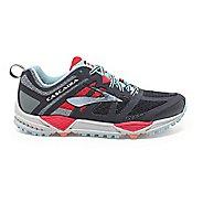 Womens Brooks Cascadia 11 Trail Running Shoe - Anthracite/Hibiscus 6
