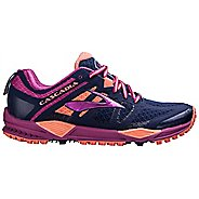 Womens Brooks Cascadia 11 Trail Running Shoe - Navy/Fuchsia 6