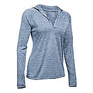 Womens Under Armour Twist Tech Long Sleeve Half-Zips & Hoodies Technical Tops - Aurora Purple XS