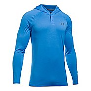Mens Under Armour Tech Popover Henley Half-Zips & Hoodies Technical Tops