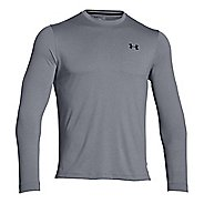 Mens Under Armour ColdGear Infrared Crew Long Sleeve Technical Tops - Steel/Black S