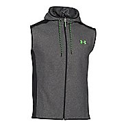 Mens Under Armour Coldgear Infrared Survival Fleece Outerwear Vests - Black/Hyper Green XL