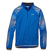 Mens Under Armour Run Windstopper 1/4 Zip Long Sleeve Technical Tops