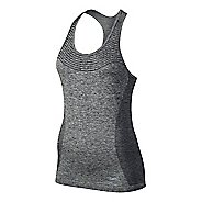 Womens Nike Dri-FIT Knit Sleeveless & Tank Technical Tops - Black/Heather L