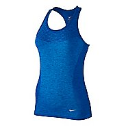 Womens Nike Dri-FIT Knit Sleeveless & Tank Technical Tops - Deep Royal Blue L