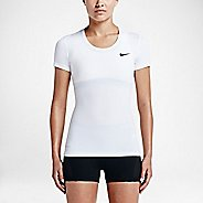 Womens Nike Pro Cool Short Sleeve Technical Tops - White L