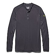 Mens Under Armour Selector Henley Shirt Long Sleeve Half Zip Technical Tops