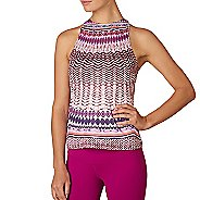 Womens Prana Boost Printed Top Sleeveless & Tank Technical Tops