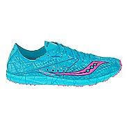 Womens Saucony Endorphin Racer Racing Shoe - Blue/Pink 5.5