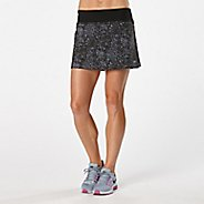 Womens R-Gear School 'Em Printed Skort Fitness Skirts - Black/Grey Mist Dot XS