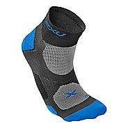 Mens 2XU Elite Training Sock Injury Recovery - Black/Vibrant Blue S