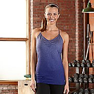 Womens R-Gear Power Pose Bra Sleeveless & Tank Technical Tops - Heather Sapphire S