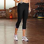 Womens R-Gear Standout Strappy Capri Tights - Black XS