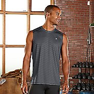 Mens R-Gear Runners High Printed Sleeveless & Tank Technical Tops - Black Stripe L