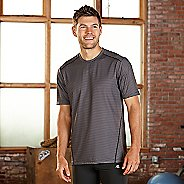 Mens R-Gear Runners High Printed Short Sleeve Technical Tops - Black Stripe M