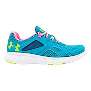 Womens Under Armour Thrill Running Shoe - Pacific/Fluo Pink 10