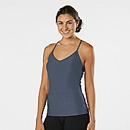 Womens R-Gear Back to Basics Cami Sport Tops Bras - Heather Storm Blue L