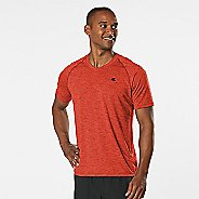 Mens Road Runner Sports Training Day V-Neck Short Sleeve Technical Tops - Blaze XXL