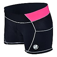 Womens De Soto Carrera Micro Tri Unlined Shorts - Black/Coral XS