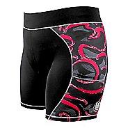 Womens De Soto Carrera Tri 2-in-1 Shorts - Black/Red Funfetti XL