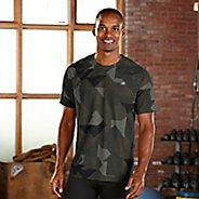 Mens R-Gear Training Day Printed Short Sleeve Technical Tops - Olive Night Geo M