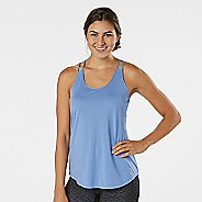 Womens R-Gear Standout Strappy Sleeveless & Tank Technical Tops - Heather Rhythm & Blue L