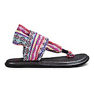 Womens Sanuk Yoga Sling 2 Prints Sandals Shoe - Magenta/Multi 10
