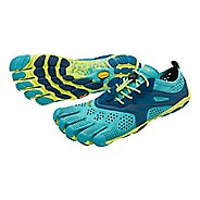 Womens Vibram V-Run Running Shoe - Teal/Navy 38