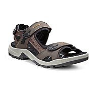 Mens Ecco Yucatan Sandals Shoe - Espresso/Black 12.5
