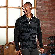 Mens R-Gear Out of Sight 1/2 Zip Long Sleeve Technical Tops - Black XL