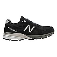 Womens New Balance 990v4 Running Shoe - Black/Silver 13