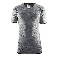 Mens Craft Active Comfort RN Short Sleeve Technical Tops - Black M
