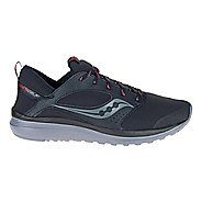 Mens Saucony Kineta Relay Runshield Running Shoe - Black/Red 7.5